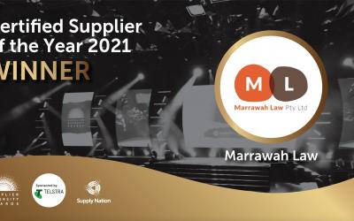 Marrawah Law wins big at Supply Nation Supplier Diversity Awards